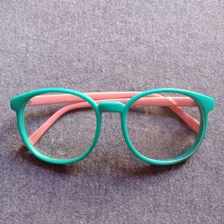 Pastel Colored Nerdy No Grade Round Eyeglasses / Shades
