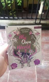 Preloved Coloring Books for Adults - My Own World #AFBakrie