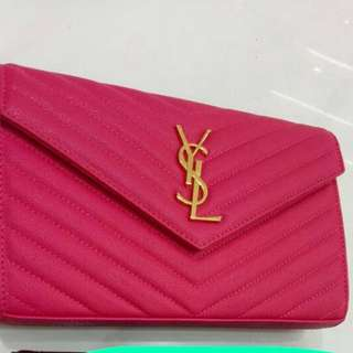 YSL WOC in 22cm , Hot Pink in Gold Hardware