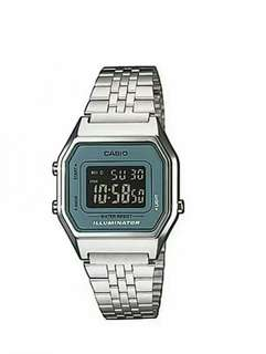Original casio stainless steel watch for ladies with 1 year warranty