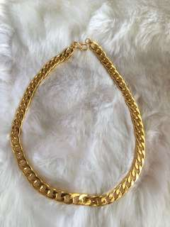 18k Gold Plated Solid Chain for unisex