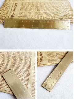 Oui.abi personalised brass ruler 18cm