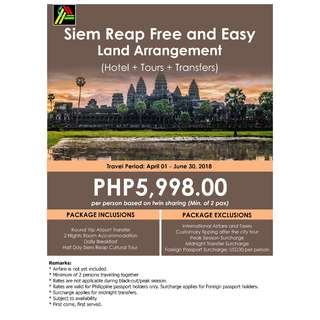 Siem Reap Free and Easy Land Arrangement