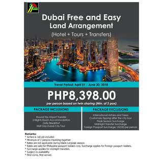 Dubai Free and Easy Land Arrangement