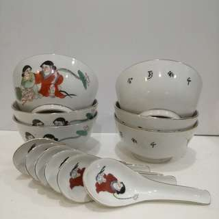 12 Pcs Bowl W/Spoon ( Jingdezhen)