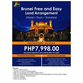 Brunei Free and Easy Land Arrangement
