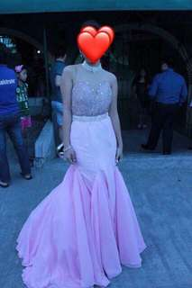 GOWN FOR RENT: Pink mermaid gown