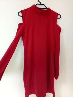 Bodycon shoulder cut-out dress