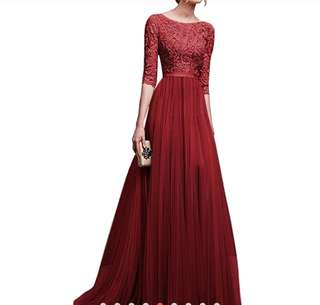 Long evening lace dress