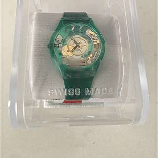 Brand New Swatch Vendor Classic Silicone Green SFG100