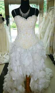 Wedding gown - pendek berekor