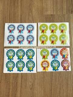 (New!) Medal Student Reward Sticker for Teachers