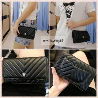 Chanel Woc V Shape Bag