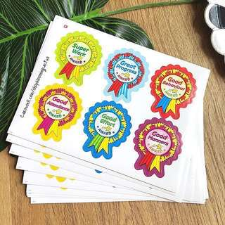 (Instock) Student Good Behaviour Medal Reward Sticker