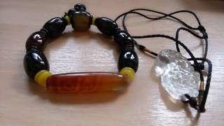Eyed Dzi Beads (天眼天珠) And   pixiu
