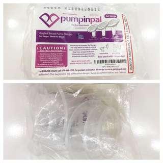 Pumpin Pals Angled Breastpump Flange Set Large
