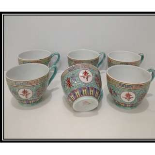 Antique 6 pcs Coffee Cup 70's