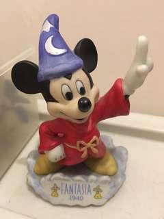 絕版 日本迪士尼 魔法師米奇 陶瓷 Disney 擺設