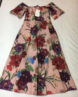 Zara off shoulder midi dress