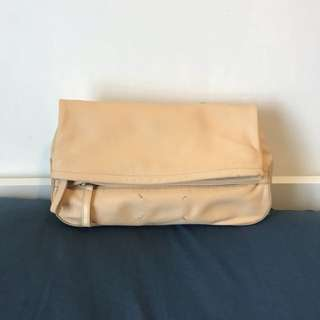 MMM leather clutch