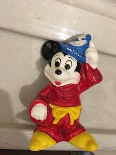 絕版 日本迪士尼魔法米奇陶瓷擺設
