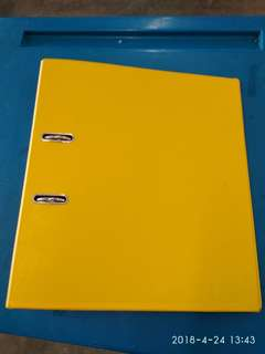 Yellow arched file