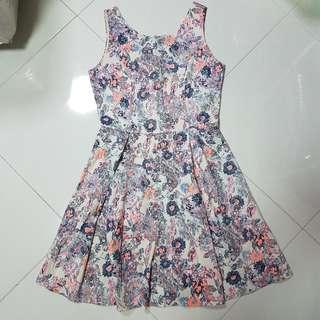 Sleeveless Floral babydoll dress