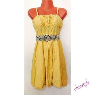 Yellow Bubble Dress
