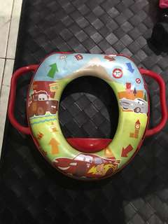 "REPRICED!! ""Cars"" potty seat trainer"