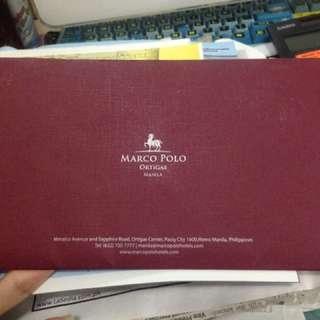 Gift certificate marco polo buffet