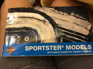 Harley Davidson Sportster 1200 Nightster official manual book