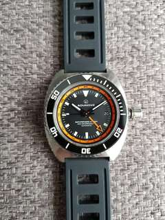 Aquadive bathyscaphe gmt orange