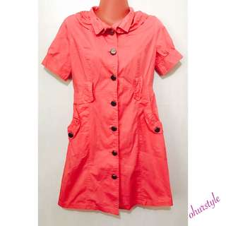 Peach (Trench Coat Style) Dress