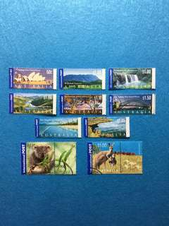 Australia Year 2000 Onwards International Post Stamps 10 Different Values