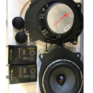 Nakamichi and Kicker R5 Speaker Components