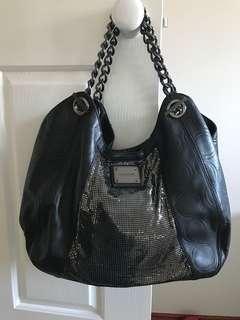 Large Oroton black/ gunmetal bag