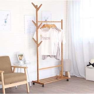 Clothes Rack Bamboo Mutifuntional