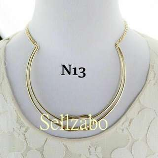 Knot Short Golden Colour Necklace Chain Sellzabo Neck Chain Accessories #N13 Ladies Girls Women Female Lady