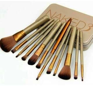 Makeup Brush Naked 3 isi 12 kuas makeup