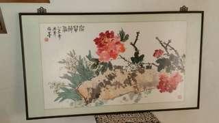 中国畫家林岑,指畫福贵神仙。