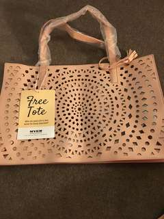 MYERS pink faux leather big size tote