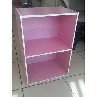 2 layers utility cabinet w/out door st-200bf pink