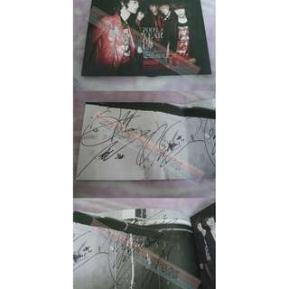 [ONLY HAVE 1][READY STOCK][RARE]SHINee KOREA 3RD MINI ALBUM WITH 5 MEMBER AUTOGRAPHED/SIGNED (UNSEALED) NO POSTER!NO PHOTO CARD!OFFICIAL ORIGINAL FROM KOREA (PRICE NOT INCLUDE POSTAGE)