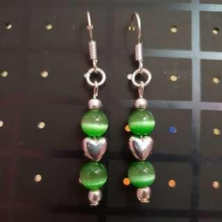 New Women Green Cat Eye Beads Earring - FREE POST