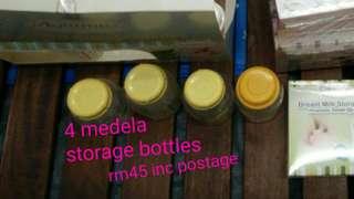 4 Medela storage bottle