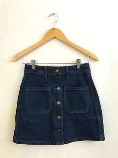🍀 denim buttondown skirt