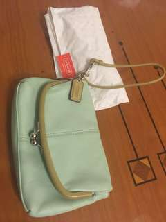 Coach leather clutch (100% new)