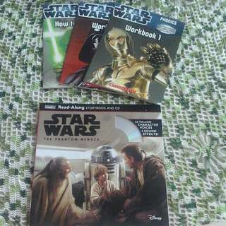 Star Wars ( The Phantom Menace) & 3 Workbooks