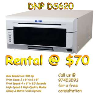 Cheap Photobooth Printer Rental:  DNP Printer for RENT (Fast & High Quality 4R Photo)