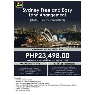 Sydney Free and Easy Land Arrangement